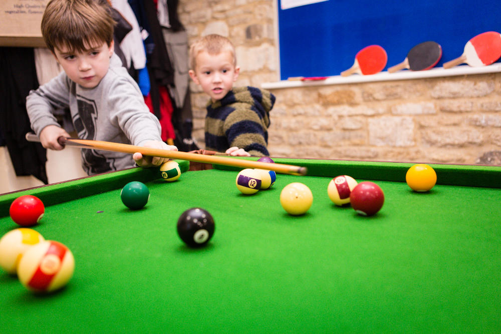 Snooker at Mighty Oaks Holiday Club Cirencester