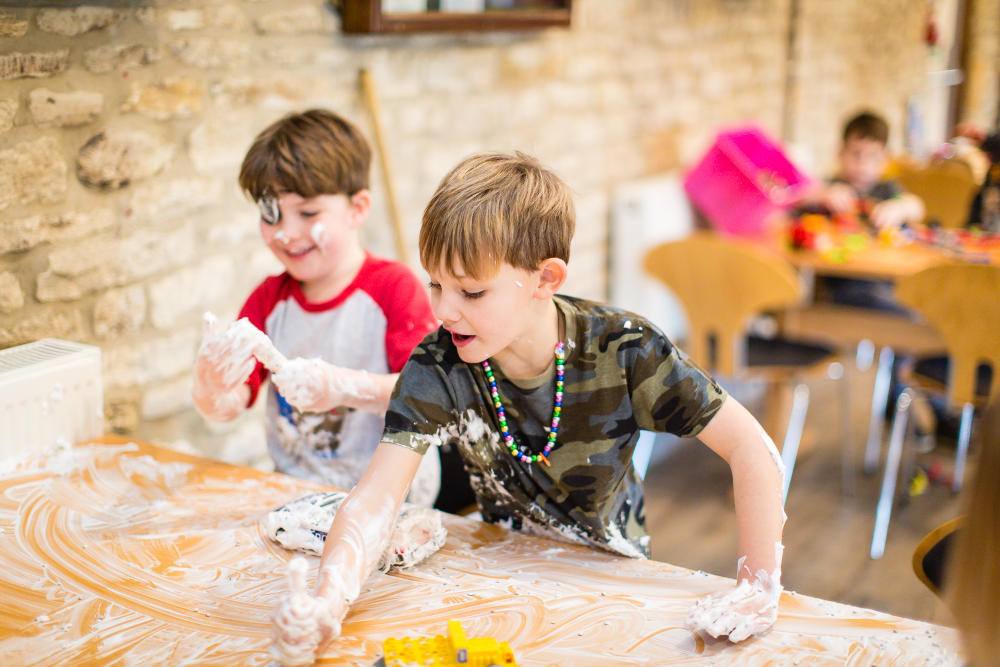 Messy Play at Mighty Oaks Holiday Club Cirencester!