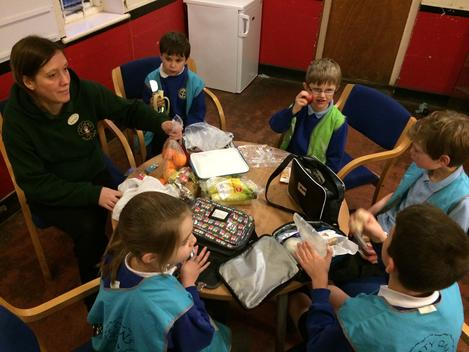Snack time at Cirencester after school club.